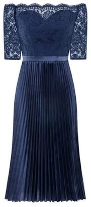 Dorothy Perkins Womens *Chi Chi London Navy Bardot Lace Midi Dress, Navy