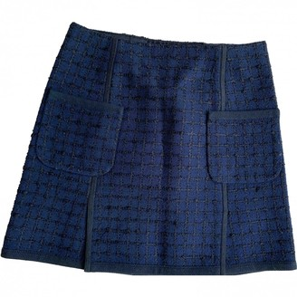 Louis Vuitton Navy Tweed Skirt for Women