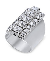 Thalia Sodi Silver-Tone Crystal Statement Ring, Only at Macy's