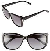 Ted Baker Women's 56Mm Oversized Sunglasses - Black