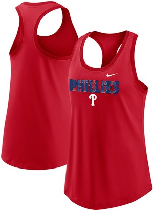 Nike Women's Red Philadelphia Phillies Let's Go Racerback Performance Tank Top