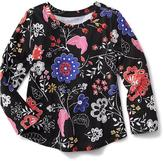 Old Navy Long-Sleeve Printed Scoop-Neck Tee for Toddler