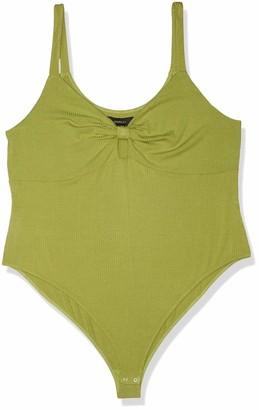 Forever 21 Women's Plus Size Bow-Front Cutout Bodysuit