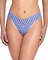 Hanky Panky Breton Stripe Signature Lace Original-Rise Thong, Blue/White