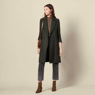 Sandro Long wool coat