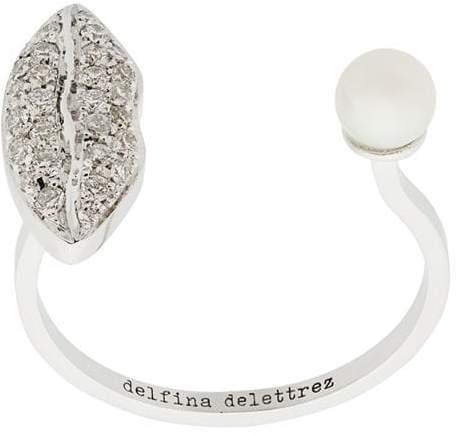 Delfina Delettrez 18kt white gold Lips Piercing ring