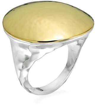 Ippolita Chimera Hammered Two-Tone Dome Ring