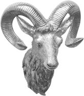 Three Hands Resin Ram Wall Decoration - Silver