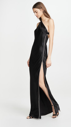 Mason by Michelle Mason Crystal Asymmetrical Gown