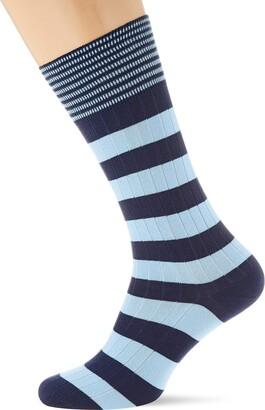 Hackett London Men's Inch Stripe Calf Socks