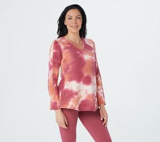 Logo by Lori Goldstein LOGO Lounge by Lori Goldstein Hand Tie-Dyed Plush Cotton Sweatshirt