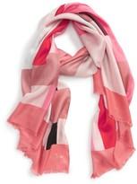 Kate Spade Women's Colorblock Oblong Silk Scarf