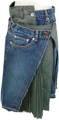 Sacai Blue Denim - Jeans Skirts