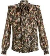 Preen by Thornton Bregazzi Annie floral-print silk-georgette shirt