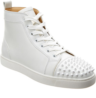 Christian Louboutin Leather High-Top Sneaker