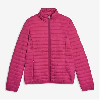 Joe Fresh Women's Packable Puffer with PrimaLoft, Fuchsia (Size S)
