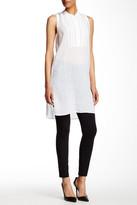 Gerard Darel Sleeveless Silk Contrast Dress