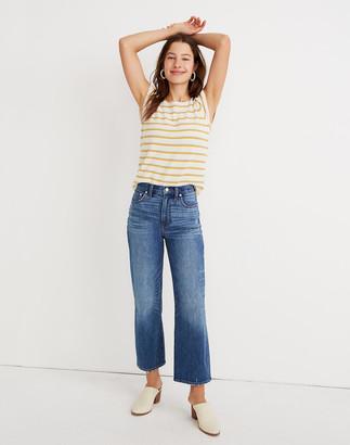 Madewell Petite Slim Wide-Leg Jeans in Garrett Wash