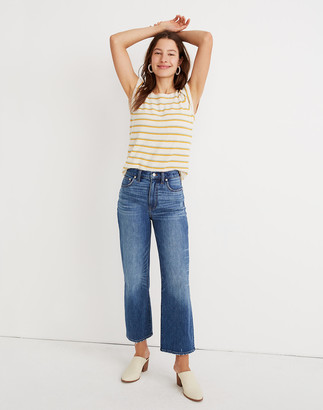 Madewell Slim Wide-Leg Jeans in Garrett Wash