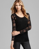 Eileen Fisher Washable Wool Lace Top