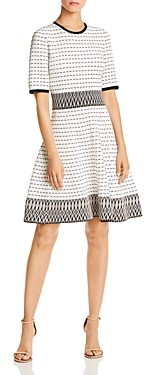 Shoshanna Mesa Tunnel Embroidered Zigzag Dress