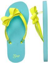 Gap Side bow glitter flip flops