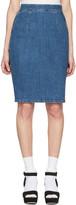 Miu Miu Blue Denim Pencil Skirt