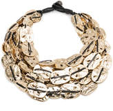 Alexis Bittar Large Rocky Coin Bib Necklace