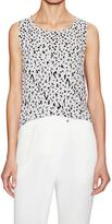 Michael Stars Printed Cropped Tank