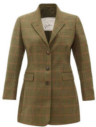 Giuliva Heritage Collection The Karen Prince Of Wales-check Wool Blazer - Green Multi
