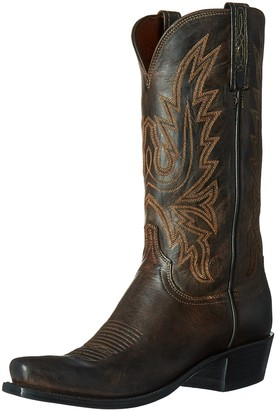 Lucchese Bootmaker Lucchese Classics Men's Cole-ch BRN Md Goat Riding Boot