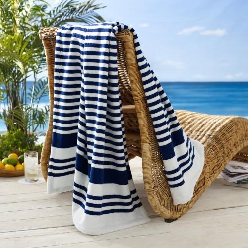 Ralph Lauren Striped Terry Beach Towel