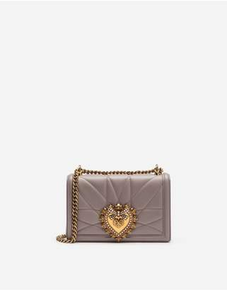 Dolce & Gabbana Medium Devotion Bag In Quilted Nappa Leather