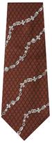 Chanel Vintage Brown Chain Silk Tie