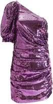 For Love & Lemons Madeleine One-Shoulder Sequin Dress