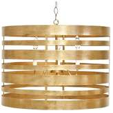 Worlds Away Metal Striped Pendant With 3 Lights