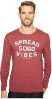 Life is Good Texas AM Aggies Good Vibes Long Sleeve Cool Tee Men's T Shirt