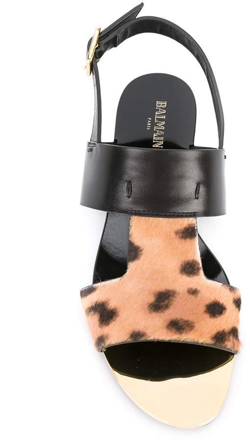 Balmain leopard 'Nina' sandals