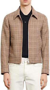 Sandro Carnaby Plaid Jacket