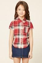Forever 21 FOREVER 21+ Girls Tartan Plaid Shirt (Kids)
