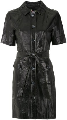 Eva Leather Utility Dress