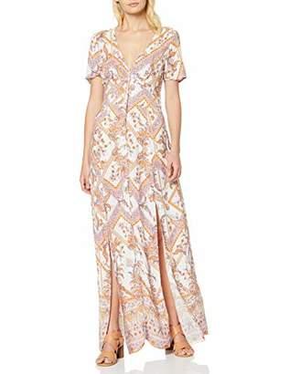 Miss Selfridge Women's Scarf Print Button Maxi Dress, White (Ivory 200), (Size:)