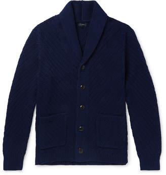 J.Crew Shawl-Collar Ribbed Cotton Cardigan - Men - Blue