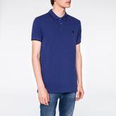 Paul Smith Men's Slim-Fit Indigo PS Logo Organic-Cotton Polo Shirt