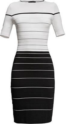 Rumour London Regatta Striped Monochrome Dress