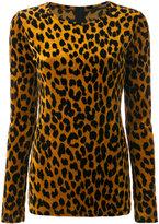 Odeeh leopard print knitted top - women - Cotton/Polyamide/Viscose - 36