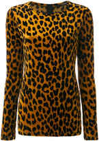 Odeeh leopard print knitted top