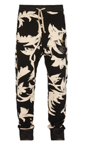 Vivienne Westwood Skinny Sweatpants Black Print Leaves Size M