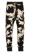Vivienne Westwood Skinny Sweatpants Black Print Leaves Size S