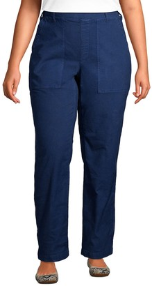 Lands' End Plus Size Canvas Pull-On Field Pants